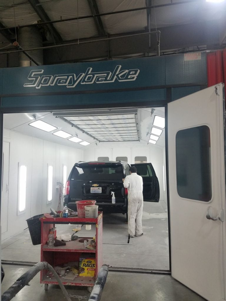 Collision Specialists Paint Booth 2